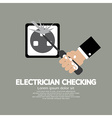 Flat Design Electrician Checking vector image