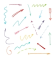 set of grunge brush arrow strokes vector image