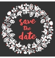 Save the date card with wreath vector image vector image