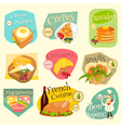 french food labels vector image vector image