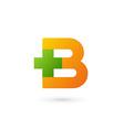 Letter B cross plus logo icon design template vector image vector image