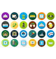 Entertainment round icons set vector image vector image