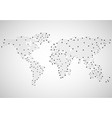 abstract world map of dots vector image