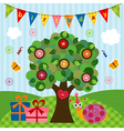 birthday snail under the tree vector image