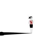 Businesswoman loneliness vector image