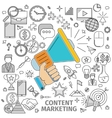 Concept Content Marketing vector image