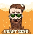 Hipster Craft Beer Theme vector image