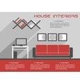 House interior design template vector image