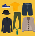 Man clothing set vector image