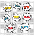 most common used internet acronyms on comics vector image