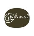 olive oil label green type design vector image