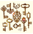 sketch vintage key vector image
