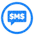 sms bubble rounded grainy icon vector image