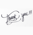 thank you lettering for decorative card vector image