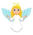 White angel cartoon vector image