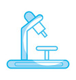 silhouette medical microscope to biology discovery vector image