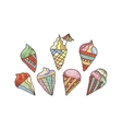Ice Creams vector image