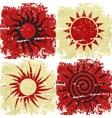 Set of different grunge sun backgound vector image