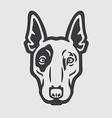 Bull Terrier Head Logo Mascot Emblem vector image