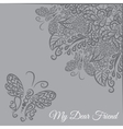 card Grey background vector image vector image
