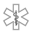 rod of asclepius icon vector image