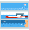 banners about save sharks and undersea world vector image