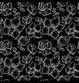 floral pattern with orchids vector image