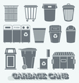 Garbage Cans and Recycling Bins vector image