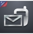 Mail icon symbol 3D style Trendy modern design vector image