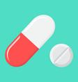 pills flat icon medicine and healthcare drug vector image