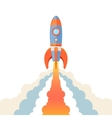 Rocket emblem isolated vector image