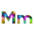 Set of letters firework M vector image