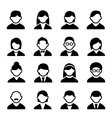 User icons set 1 vector image