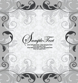 GRAY INVITATION CARD WITH PLACE FOR TEXT vector image vector image