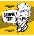 Punk rock concert poster flyer ticket vector image