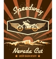 Retro Speedway Nevada Cut Graphic Design vector image