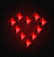 Heart Pyramids vector image vector image