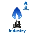Oil and gas industry factory vector image vector image