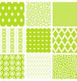lime green patterns set vector image