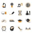 School Icons set vector image