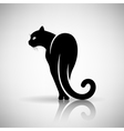 Stylized Black Cat vector image vector image