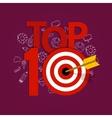 top ten 10 list winner achievement target best vector image