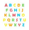 color english alphabet vector image