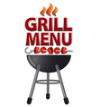 grill menu sign vector image