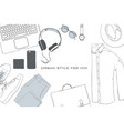 hand drawn doodle flat lay vector image
