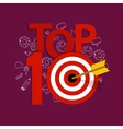 top ten 10 list winner achievement target best vector image