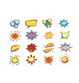 set of colored comic book bubbles isolated on vector image