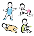 cheerful active baby symbol vector image vector image