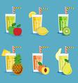 Fresh smoothies set vector image