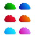 Cloud labels vector image